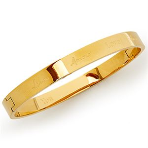 Picture of Love Gold Bangle Worksheet